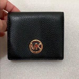 Michael Kors! Like new! Black leather wallet.